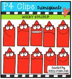 P4 WACKY Ketchup Buddies  {P4 Clips Trioriginals Digital Clip Art}