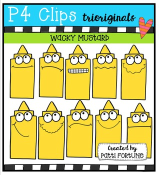 P4 WACKY Mustard Buddies  {P4 Clips Trioriginals Digital Clip Art}