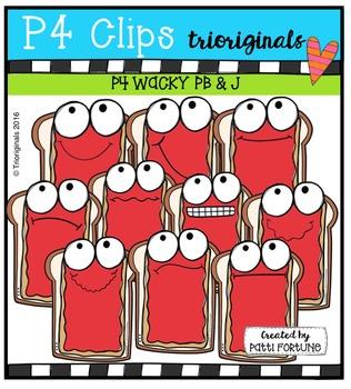 P4 WACKY PB & J   {P4 Clips Trioriginals Digital Clip Art}