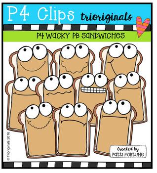 P4 WACKY PB Sandwiches  {P4 Clips Trioriginals Digital Clip Art}