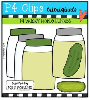 P4 WACKY Pickles {P4 Clips Trioriginals Digital Clip Art}
