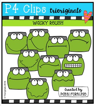 P4 WACKY Relish Buddies  {P4 Clips Trioriginals Digital Clip Art}