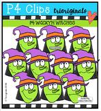 P4 WACKY Witches {P4 Clips Trioriginals Digital Clip Art}