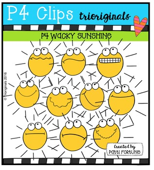 P4 Wacky Sunshine  {P4 Clips Trioriginals Digital Clip Art}