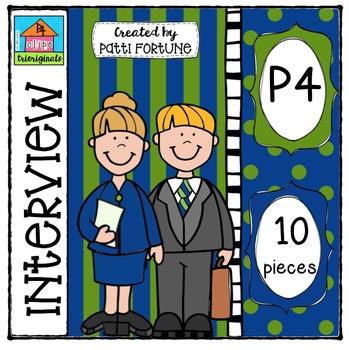 P410 Interview {P4 Clips Trioriginals Digital Clip Art}