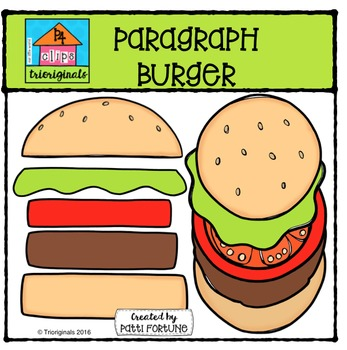 Paragraph Burger {P4 Clips Trioriginals Digital Clip Art}
