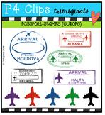 Passport Stamps (Europe)  {P4 Clips Trioriginals Digital Clip Art}
