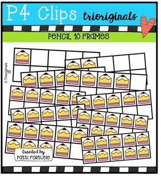 Pencil 10 Frames {P4 Clips Trioriginals Digital Clip Art}