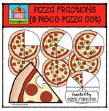 Pizza Fractions (COLOR ONLY) {P4 Clips Trioriginals Digital Clip Art}