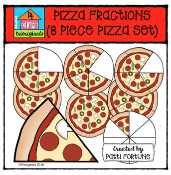 Pizza Fractions (COLOR ONLY) {P4 Clips Trioriginals Digital Clip Art}