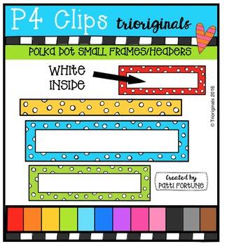 (50% 0FF)  Polka Dot Small Frames / Headers {P4 Clips Trio