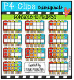 Popsicle 10 Frames {P4 Clips Trioriginals Digital Clip Art}