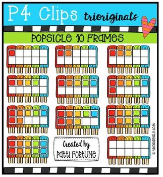 Popsicle 10 Frames {P4 Clips Trioriginals Digital Clip Art}