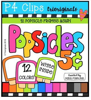 Popsicle Frames {P4 Clips Trioriginals Digital Clip Art}