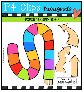 Popsicle Spinners {P4 Clips Trioriginals Digital Clip Art}