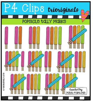 Popsicle Tally Marks {P4 Clips Trioriginals Digital Clip Art}
