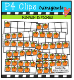 Pumpkin 10 Frames  {P4 Clips Trioriginals Digital Clip Art}