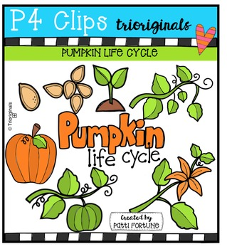 Pumpkin Life Cycle {P4 Clips Trioriginals Digital Clip Art}