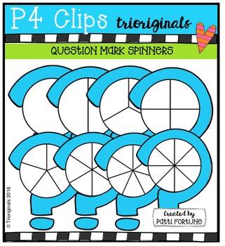 Question Mark Spinners {P4 Clips Trioriginals Digital Clip Art}