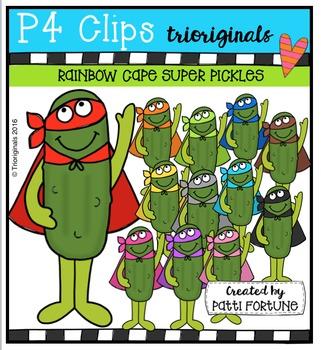 RAINBOW Cape Super Pickles {P4 Clips Trioriginals Digital