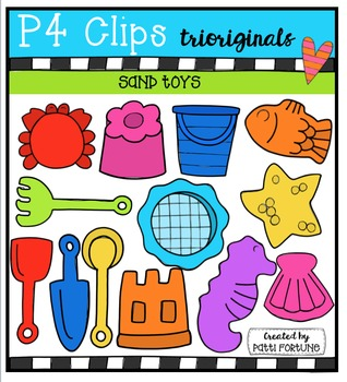 Sand Toys {P4 Clips Trioriginals Digital Clip Art}