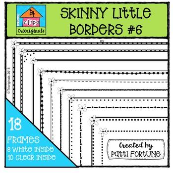 Skinny Little Borders #6 {P4 Clips Trioriginals Digital Clip Art}