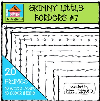 Skinny Little Borders #7 {P4 Clips Trioriginals Digital Clip Art}