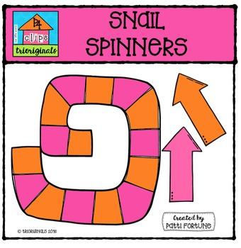 Snail Spinners{P4 Clips Trioriginals Digital Clip Art}