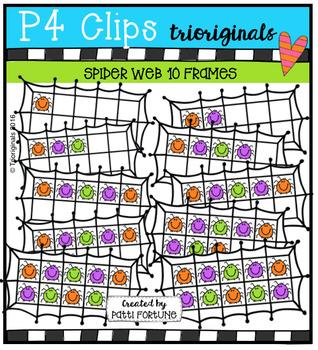 Spider 10 Frames  {P4 Clips Trioriginals Digital Clip Art}