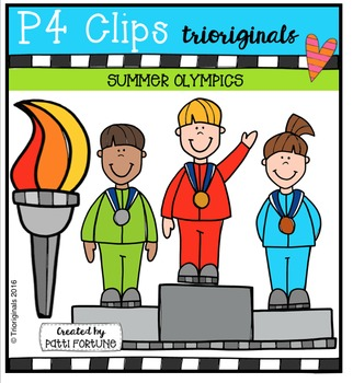Summer Athletes Competition {P4 Clips Trioriginals Digital Clip Art}