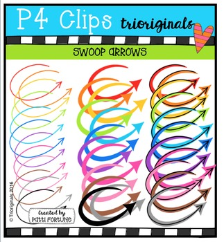 Swoop Arrows  {P4 Clips Trioriginals Digital Clip Art}