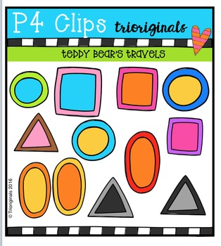 Teddy Bear's Travels {P4 Clips Trioriginals Digital Clip Art}
