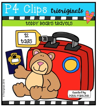 Teddy Bear's Travels {P4 Clips Trioriginals Digital Clip Art}