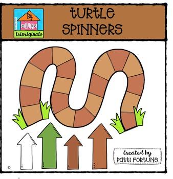 Turtle Spinners {P4 Clips Trioriginals Digital Clip Art}