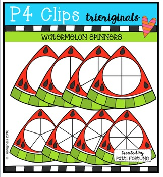 Watermelon Spinners {P4 Clips Trioriginals Digital Clip Art}