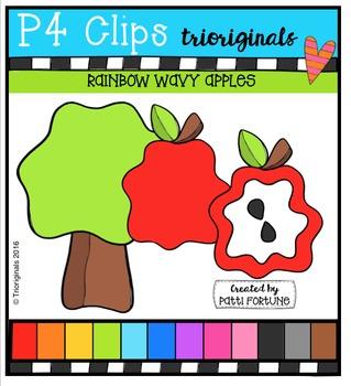 Wavy Apples  {P4 Clips Trioriginals Digital Clip Art}