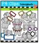 What's Up Elephants  {P4 Clips Trioriginals Digital Clip Art}