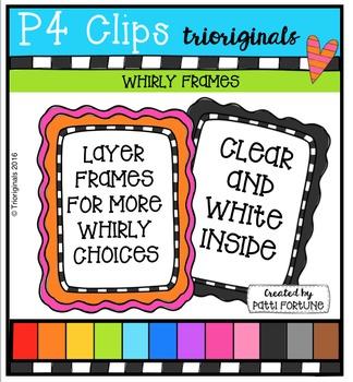 Whirly Frames  {P4 Clips Trioriginals Digital Clip Art}