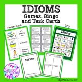 Idioms Unit:  Memory cards, Quiz Game, Bingo, and Task Cards