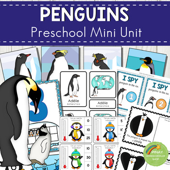 Penguins Preschool Math and Literacy Mini Unit