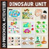 Dinosaur Preschool/ Kindergarten Unit - Math and Literacy Centers