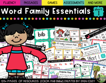 CVC Word Family Fluency Essentials: Small Group Resources (Short Vowel I)