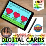 6NS7 Ordering of Rational Numbers Boom Cards™ | Digital Ma