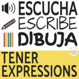 Tener Expressions Escucha, Escribe, Dibuja Activity