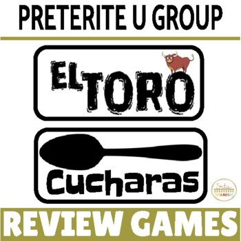 """Review Game Pack for Preterite Tense """"U Group"""" Verbs"""