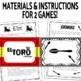 """¡El Toro! Review Game for Preterite Tense """"U Group"""" Verbs"""