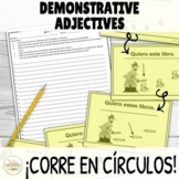 Demonstrative Adjectives ¡Corre en Círculos! Activity