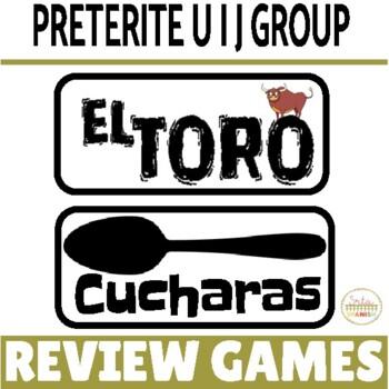 Preterite Tense U, I, & J Groups Review Game Pack