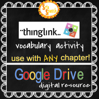 Thinglink Vocabulary Collage: Online Interactive Activity