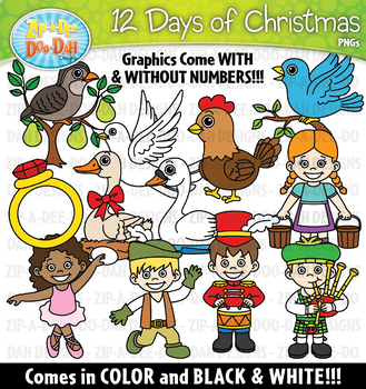 12 Days of Christmas Clipart Set {Zip-A-Dee-Doo-Dah Designs}